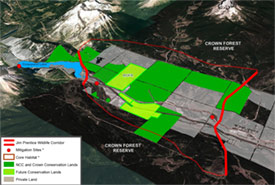 Jim Prentice Wildlife Corridor map