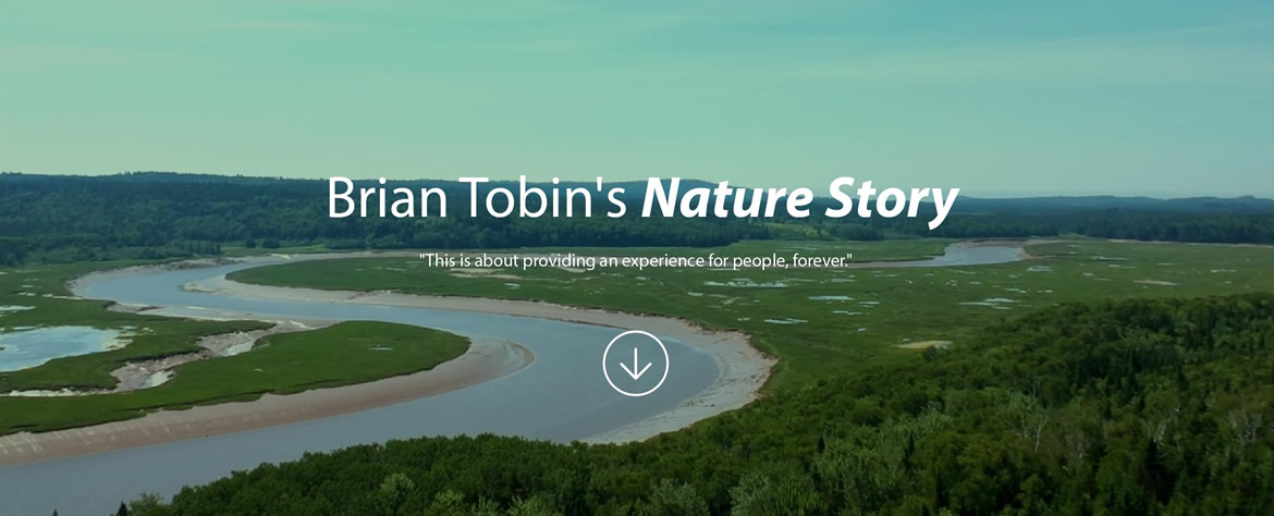 Brian Tobin's Nature Story - This is about providing an experience for people, forever.