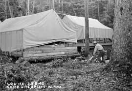 Spider Island RCAF camp (Photo courtesy Archives Canada)