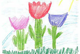 A drawing by a Christian Heritage School student.