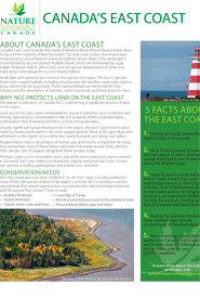 Canada's East Coast fact sheet (NCC)
