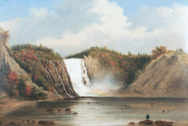 <i>Montmorency Falls</i>, 1853, Cornelius Krieghoff (1815-1872) (Photo from Wiki Commons)