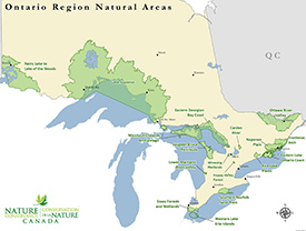 Where NCC works in Ontario. Click to enlarge.
