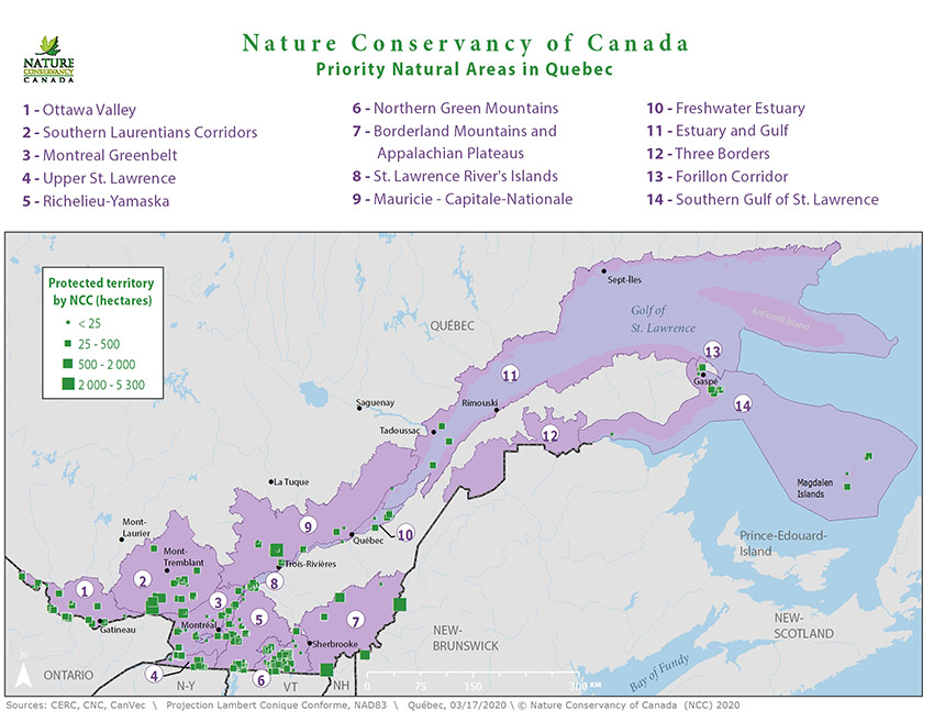 Natural areas in Québec