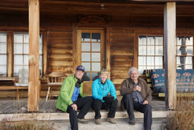 Brian, Dee Keating and Charlie Russell at the Hawksnest, AB (Photo by NCC)
