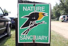 Sign at Clifford E. Lee Nature Sanctuary (Photo by NCC)