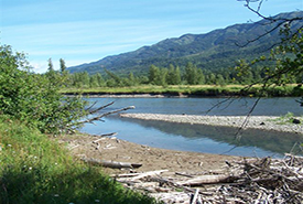 The view of the Elk River from Morrissey Meadows Conservation Area (Photo by NCC)