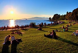 Sunset at English Bay (Photo by Clayton Perry/ Tourism Vancouver)