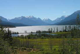 The lagoon at Tatlayoko Lake Ranch (Photo by Brenda Shaughnessy)