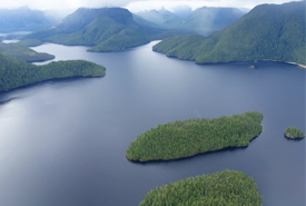 Islands along BC's central coast (Photo by NCC)