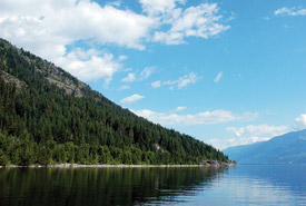 Darkwoods sits on the shores of Kootenay Lake, British Columbia (Photo by M.A. Beaucher)