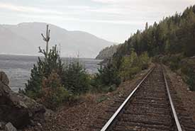 Railroad tracks on Darkwoods (Photo by NCC)