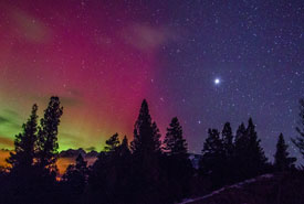 Aurora borealis at Dutch Creek Hoodoos (Photo by Dan Walton)