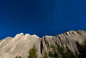 Dutch Creek Hoodoos at night (Photo by Steve Ogle)