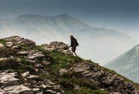 A hiker on Mt. Broadwood (Photo by NCC)