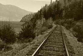 Railroad track tie, Darkwoods, British Columbia (Photo by NCC)