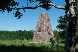 Fort Ellice cairn (Photo by T. Frickes)