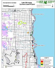 Lake Winnipeg Sunrise Coast Project Map.
