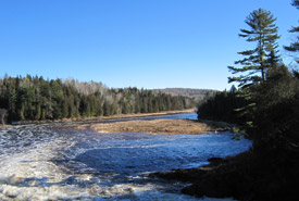 Meduxnekeag River in winter, New Brunswick (Photo by NCC)