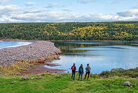 Hikers at Freshwater Bay, NL (Photo by NCC)