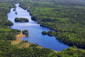 Fishing Lake was purchased for permanent conservation by NCC (Photo by Mike Dembeck)