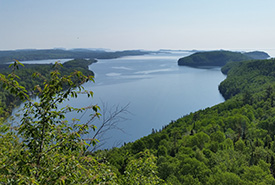 Looking down over Big Trout Bay, Lake Superior, ON (Photo by NCC)