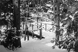 Winter trail, Eastcourt, March 13, 1937 (Photo by Marion Ellis)