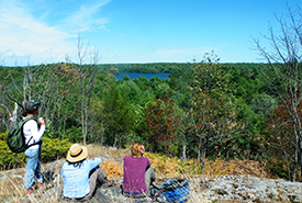 Overlooking Loughborough Lake Wilderness Area, Frontenac Arch, Ontario (Photo by NCC)
