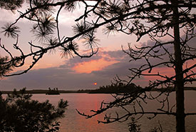 Sunset, Town Island, Kenora, ON (Photo by Patty Nelson)