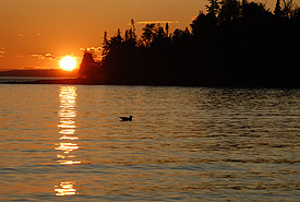 Sunset over Wilson Island, Lake Superior, Ontario (Photo by Michelle Derosier, Thunderstone Pictures)