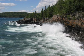 Waves crash on the northwestern Lake Superior Coast, Ontario (Photo by John Anderson)