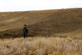 NCC's Dale Gross looks out across the land at the Wideview property. (Photo by NCC)