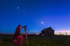 Old Man on His Back, SK, has just been named Canada's second Dark Sky Preserve (Photo by Alan Dyer)