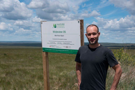 Conservation Volunteer Peter at Wideview (Photo by Bill Armstrong)
