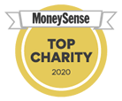 MoneySense Top Charity badge