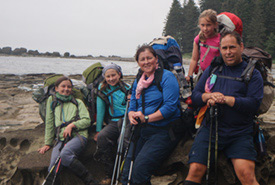 A family photo taken on the West Coast Trail (Photo courtesy of Duncan Dube)