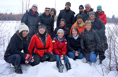 NCC staff at Bunchberry Meadows Conservation Area, AB (Photo by NCC)