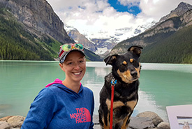 Carys and Kahlua at Lake Louise (Photo by Jesse Knowlden)