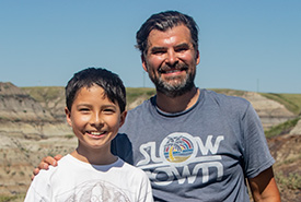 Nathan and Dion Hrushkin at the Nodwell property (Photo by NCC)