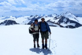 Tony and Liz Fricke at Mistaya Mountain, Banff AB (Photo courtesy of the Frickes)