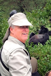 Brian Keating with gorillas (Photo courtesy of Brian Keating)