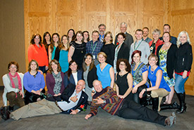 The wonderful team Alberta, NCC President and CEO John Lounds, and Brian Keating