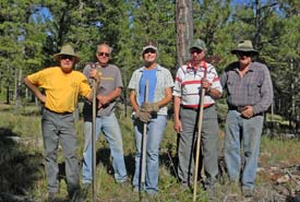 Conservation Volunteers, Rick Hoar and the Snag Club (Photo courtesy Rick Hoar)