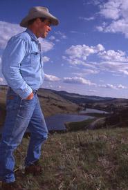 Roy Jackson at Napier Lake Ranch in 2001 (Photo by Rick Blacklaws)