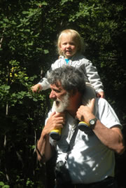 Andrew Harcombe and his granddaughter, Felicity (Photo courtesy of Andrew Harcombe)