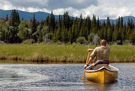 Canoeing at the Daphne Ogilvie Nature Sanctuary, BC (Photo by Bernadette Mertens-McAllister)