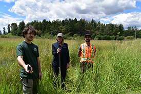 Wetland Workforce at Chase Woods Nature Preserve (Photo by Cheyenne Bergenhenegouwen, BCWF Wetlands Workforce)