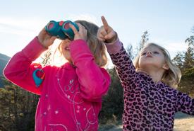 Kids explore the Dutch Creek Hoodoos (Photo by Steve Ogle)