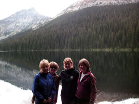 Ladies of NCC's BC Region: Linda Hannah, Trish Blackstock, Hillary Page and Nancy Newhouse. (Photo by NCC)