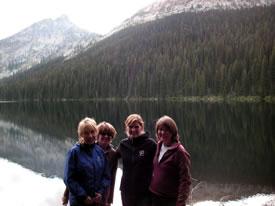 Ladies of NCC's BC Region: Linda Hannah, Trish Blackstock, Hillary Page and Nancy Newhouse. (Photo by NCC)